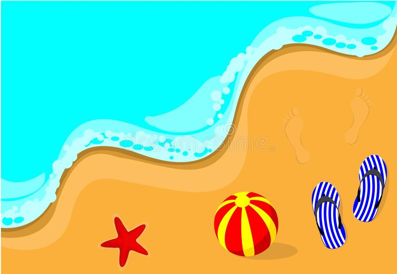 Flip-flop en la playa libre illustration