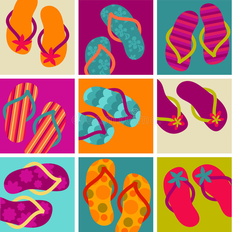 Download Flip flop pattern stock vector. Image of autumn, objects - 9998360