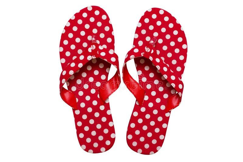 Flip-flop rojos imagen de archivo libre de regalías