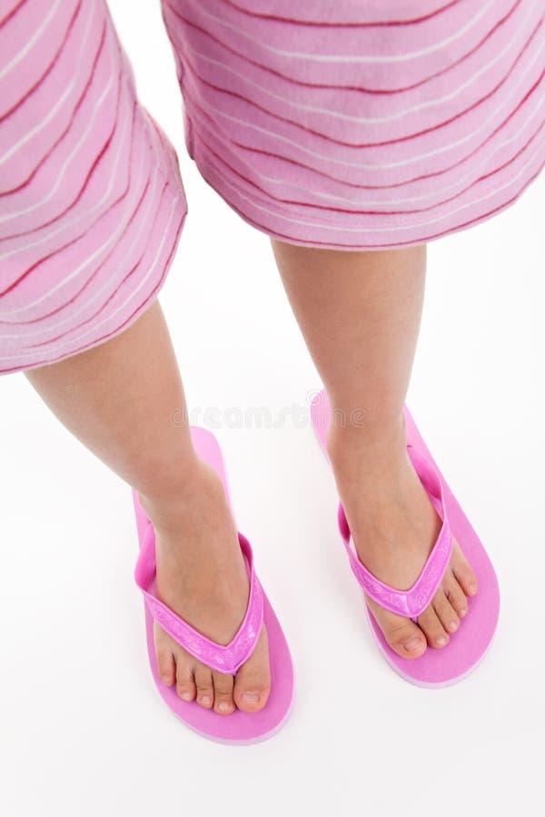 Download Flip flop sandal stock photo. Image of white, shoe, foot - 15524862