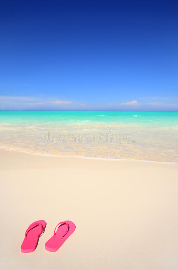 Download Flip-flop Sandals On The Beach Stock Image - Image: 10726377