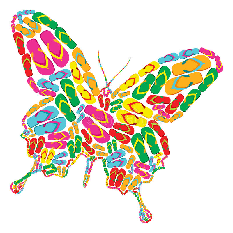 Download Flip Flops Butterfly Royalty Free Stock Images - Image: 25130599