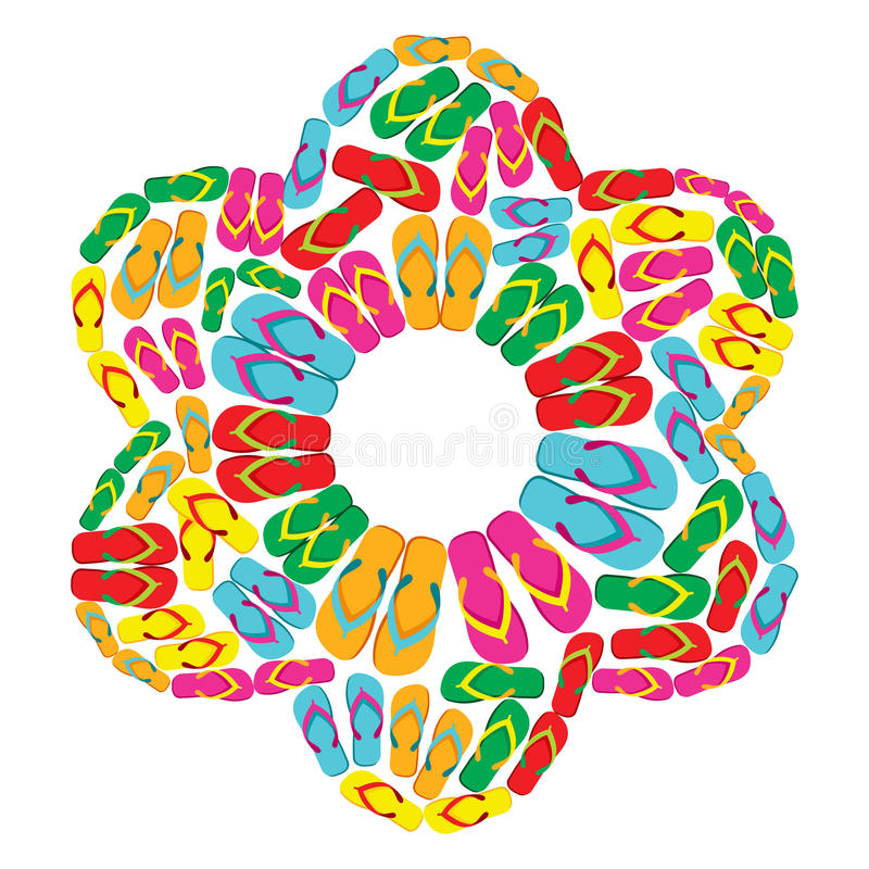 Download Flip flops flower stock vector. Image of isolated, colorful - 25130708