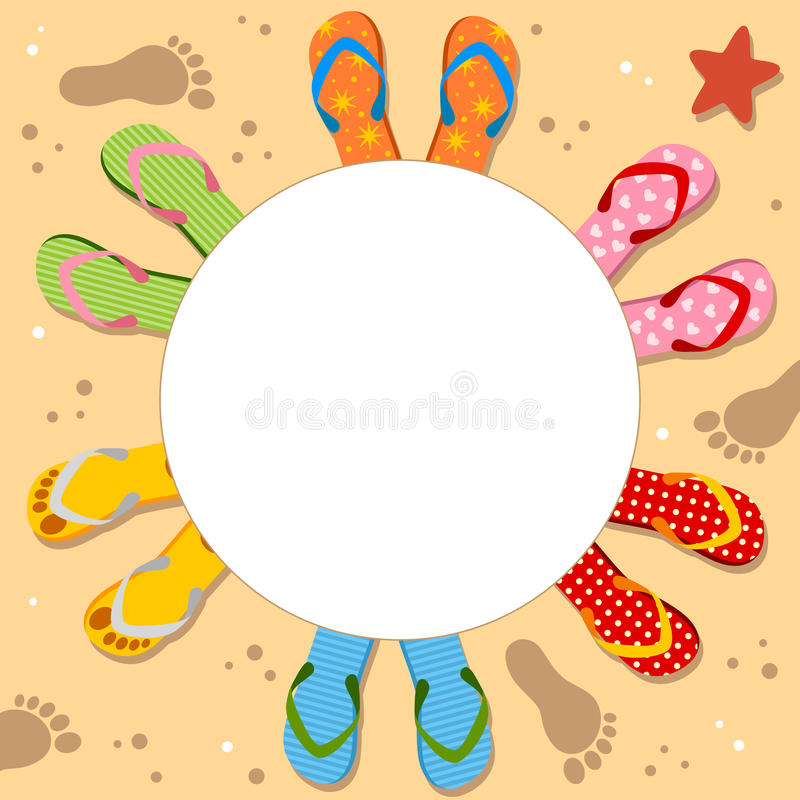 Flip Flops Holiday Photo Frame ilustração royalty free