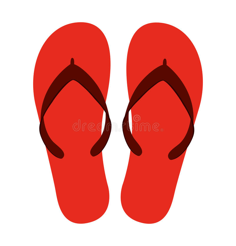 Flip flops isolated icon design. Illustration graphic royalty free stock photos