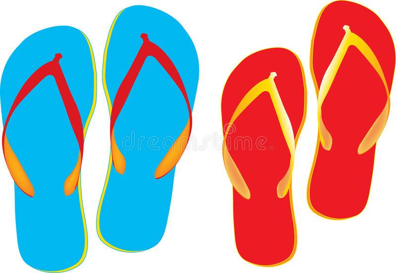 Download Flip Flops Isolated On A White Background Royalty Free Stock Image - Image: 19759066