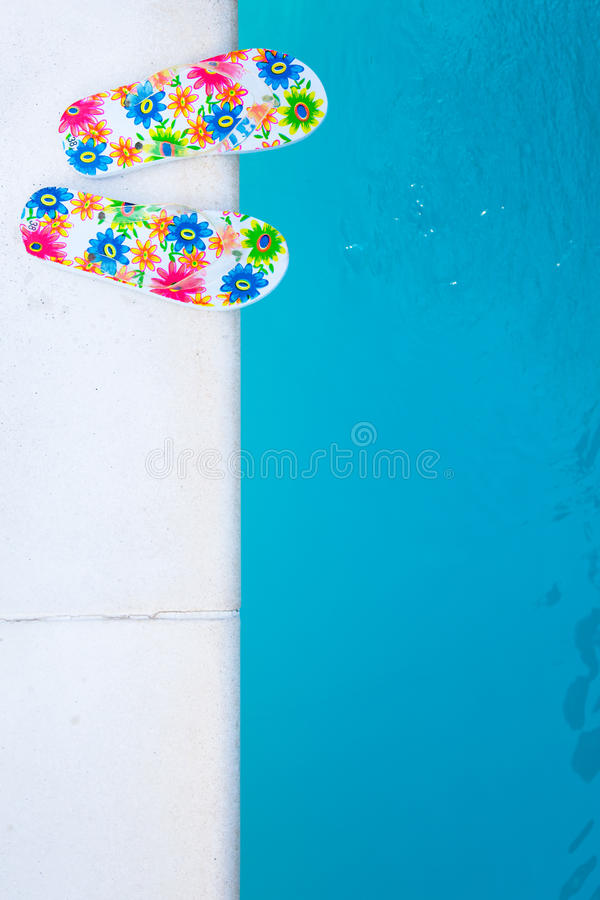 Download Flip-flops Near The Swimming-pool Stock Photos - Image: 18590533