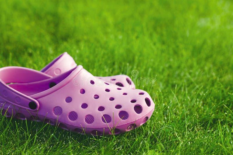 Flip-flops no gramado imagem de stock royalty free