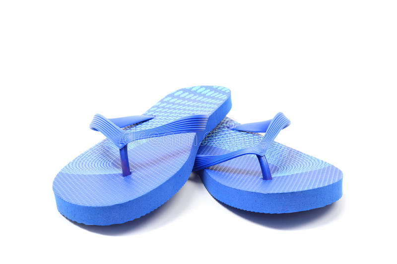 Flip flops,. Over white, clipping path royalty free stock photo
