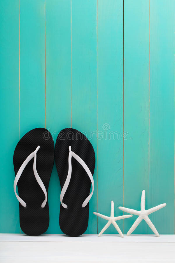 Flip Flops and starfish royalty free stock photo