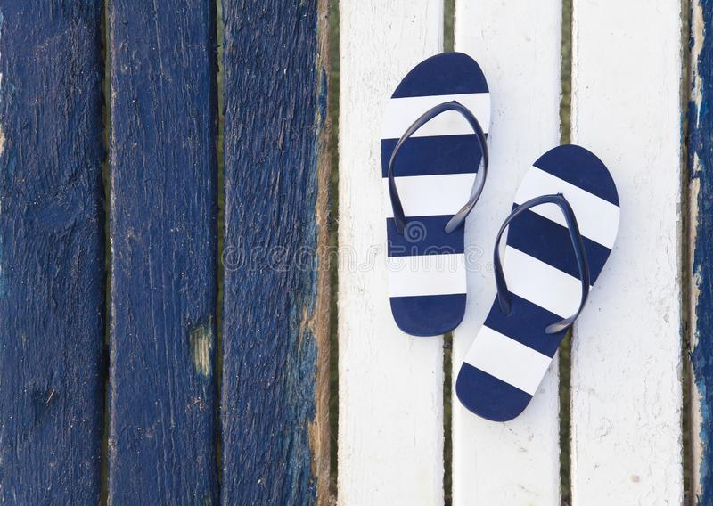 Flip Flops Striped stock photo