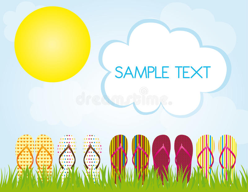 Download Flip flops summer stock vector. Image of clothing, cloud - 21469913