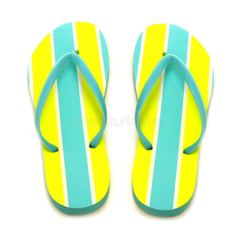 Flip-flops. Summer flip-flops on a white background royalty free stock photos
