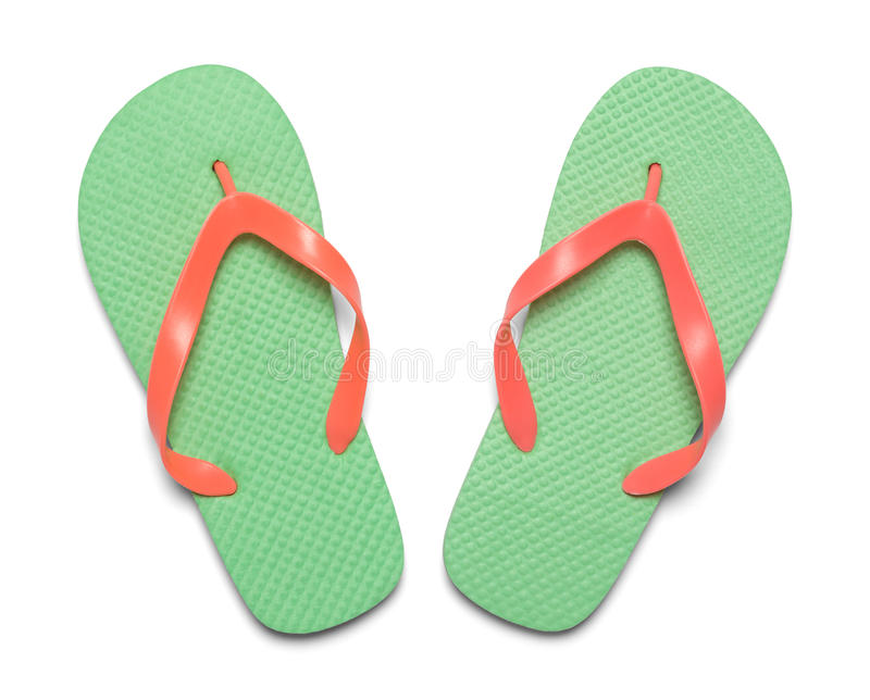 Flip Flops Top View stock photography