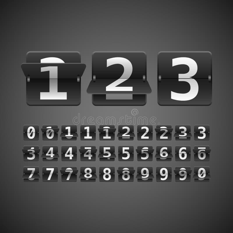 Flip Numbers Set illustrazione di stock