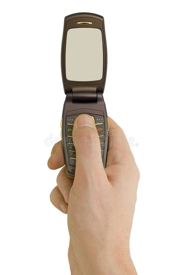Flip Phone In Hand Royalty Free Stock Photography