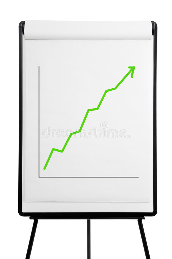 Flipchart - Leistung oben lizenzfreie stockbilder