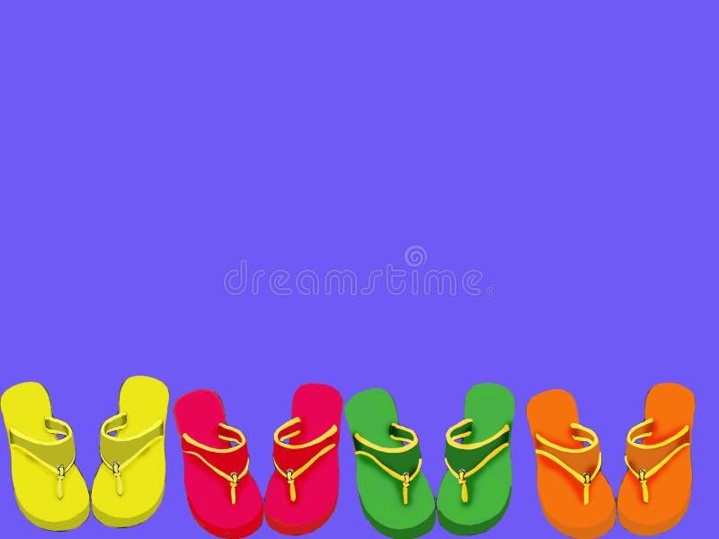Download Flipflops stock illustration. Image of drawn, foot, hand - 890875