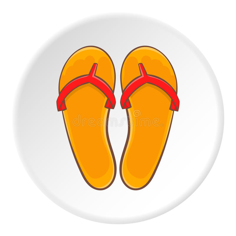 Flipflops Ikone, Karikaturart stock abbildung