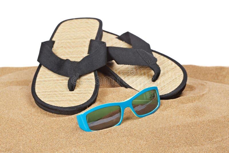 Flipflops On The Sand Stock Image
