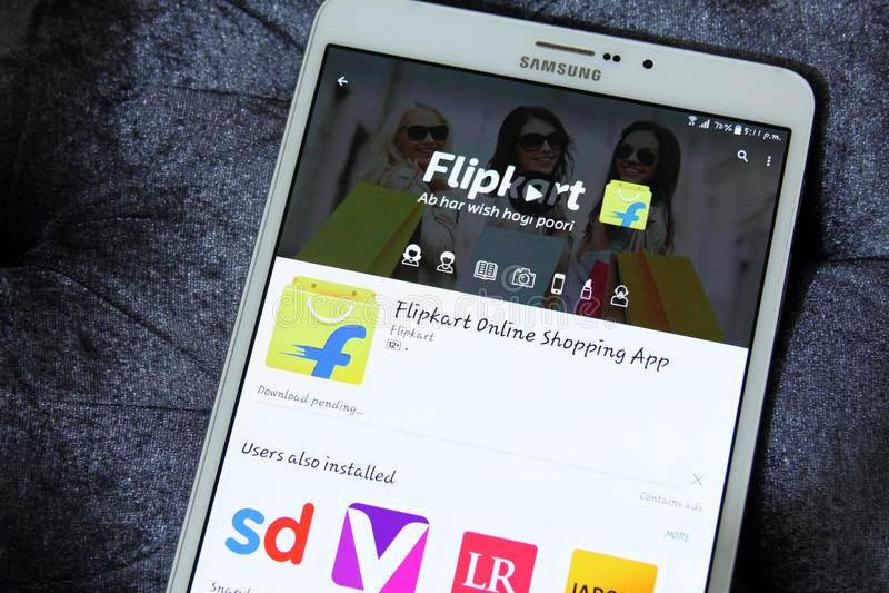 Flipkart app fotografia royalty free