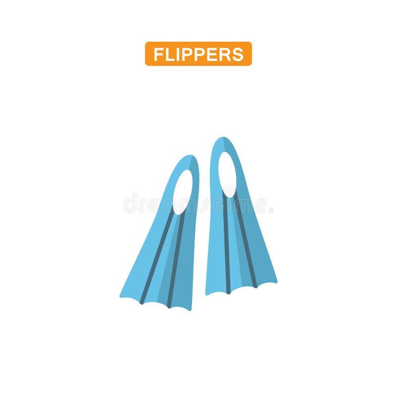 Flippers mieszkania ikona royalty ilustracja
