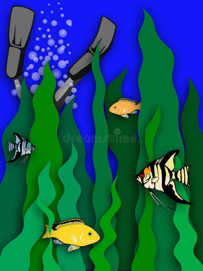 Download Flippers up stock illustration. Illustration of diving, seaweed - 8255
