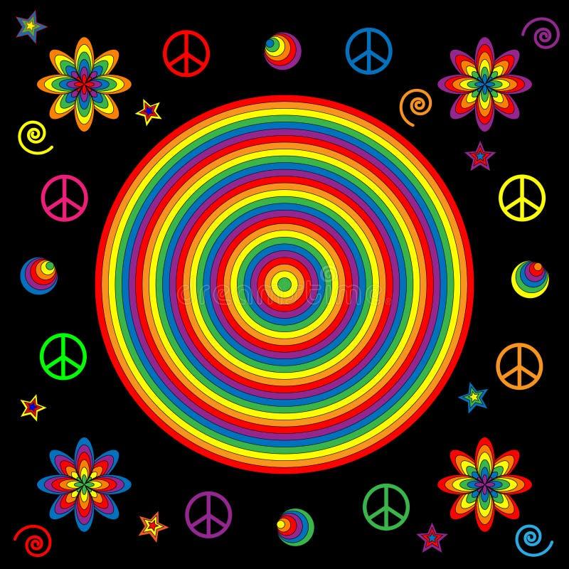 Flippige Regenbogen-Ikonen stock abbildung