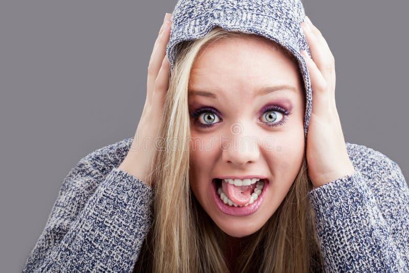 Flippige Zunge stockfoto