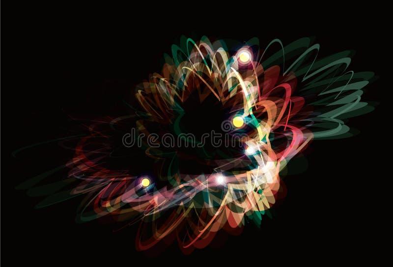 Flippiger abstrakter Lichteffektanstrichhintergrund lizenzfreie abbildung