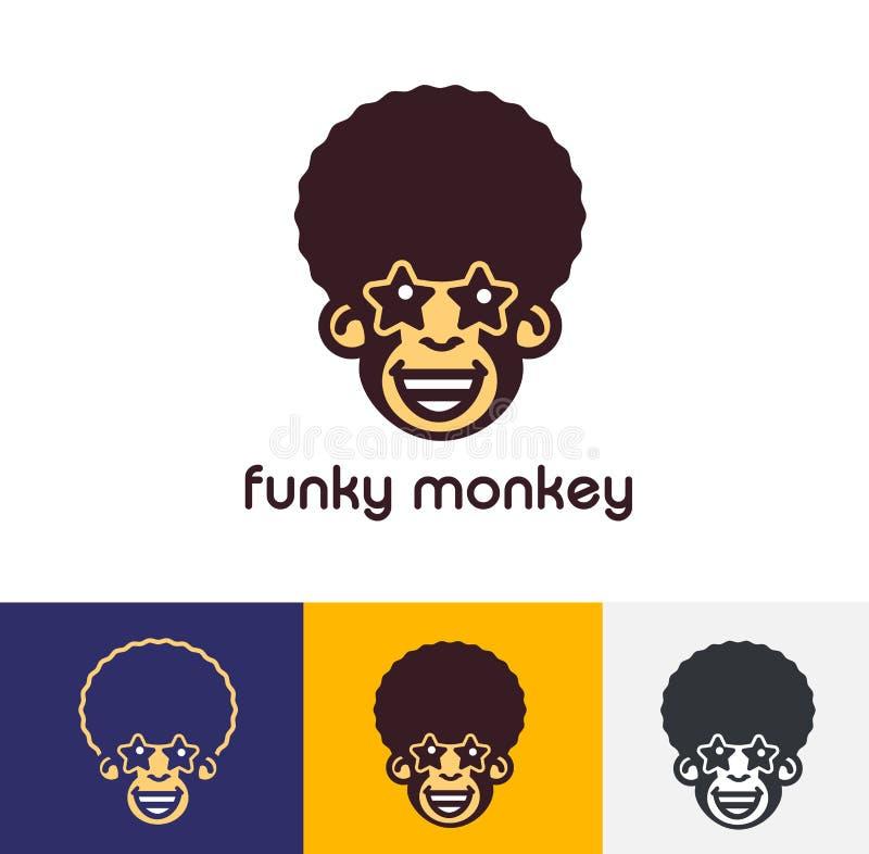 Flippiger Affe Logo Template stock abbildung