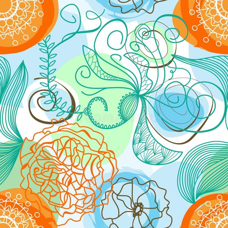 Flippiger Blumenhintergrund vektor abbildung