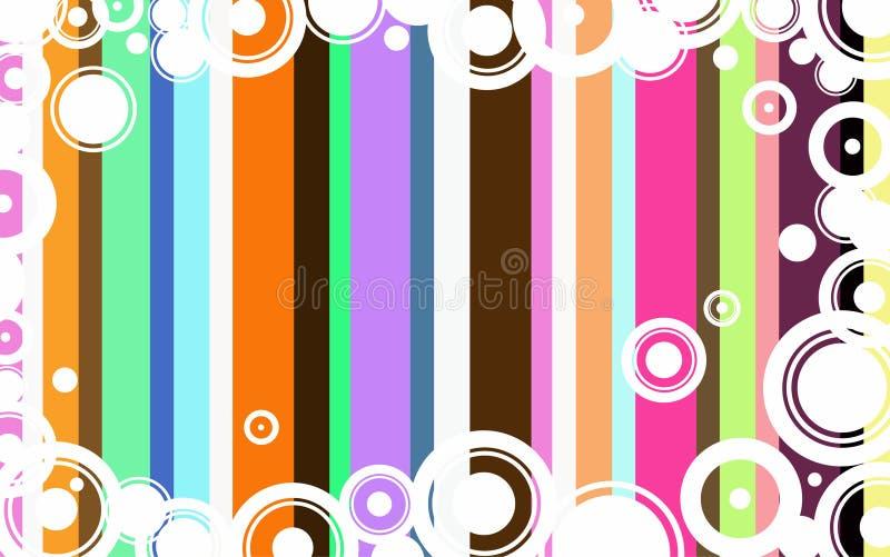 Flippiger Kreis-Hintergrund stock abbildung