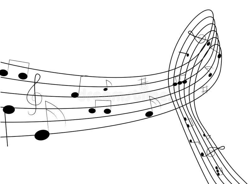 Flippiger Musik-Hintergrund lizenzfreie abbildung