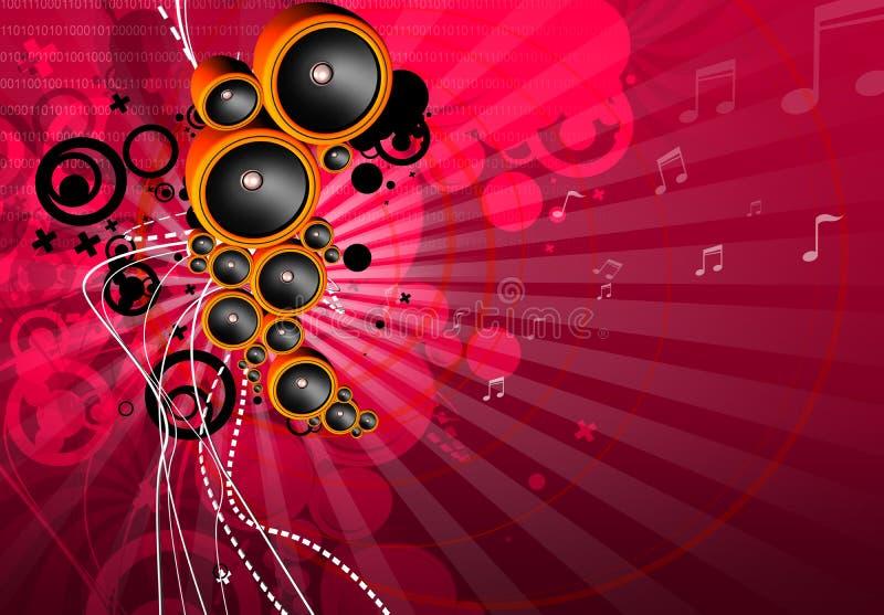 Flippiger musikalischer Hintergrund lizenzfreie abbildung