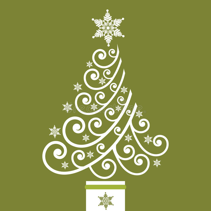 Flippiger Ring-Weihnachtsbaum stock abbildung