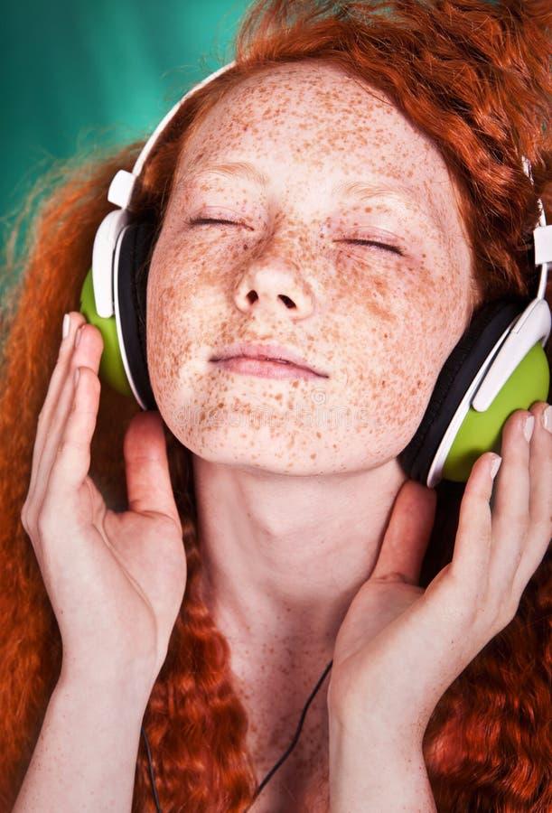 Flippiges Musikportrait stockbild