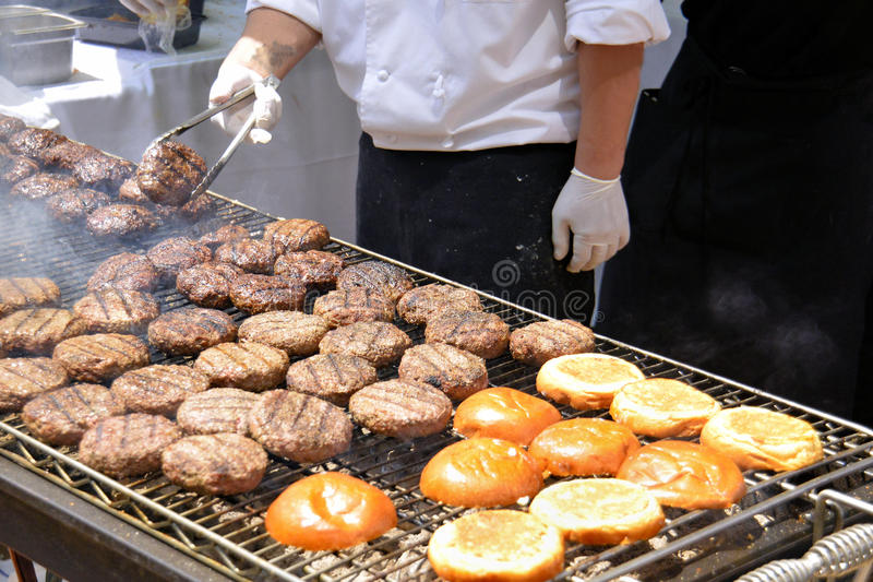 Flipping Burgers stock images