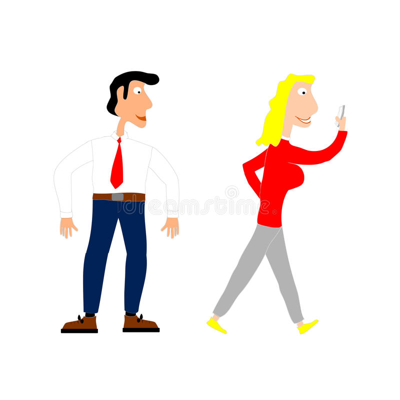 Flirt ilustracja wektor