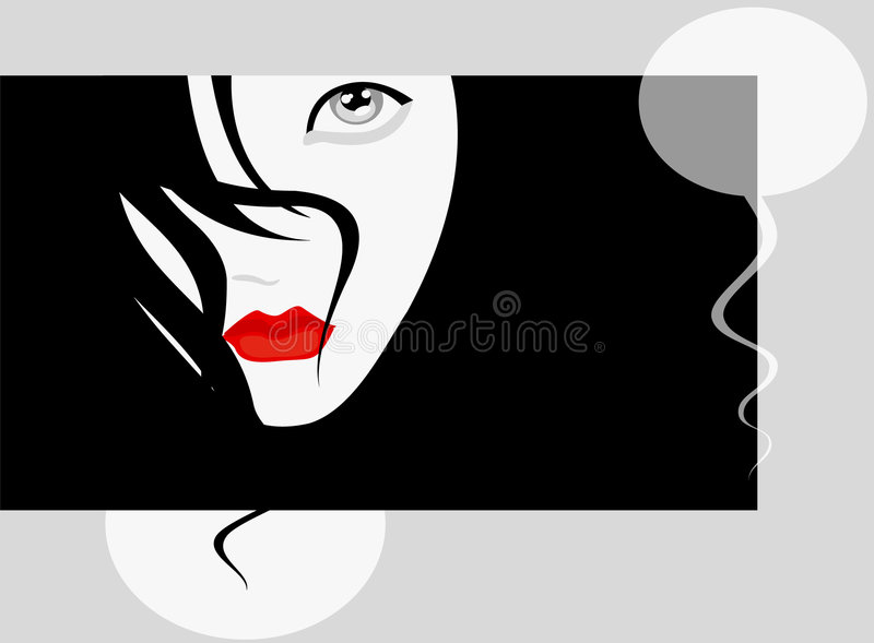 Flirt vector illustratie