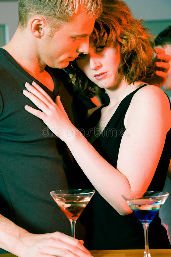 Download Flirt in a bar stock image. Image of cocktail, talking - 12225195
