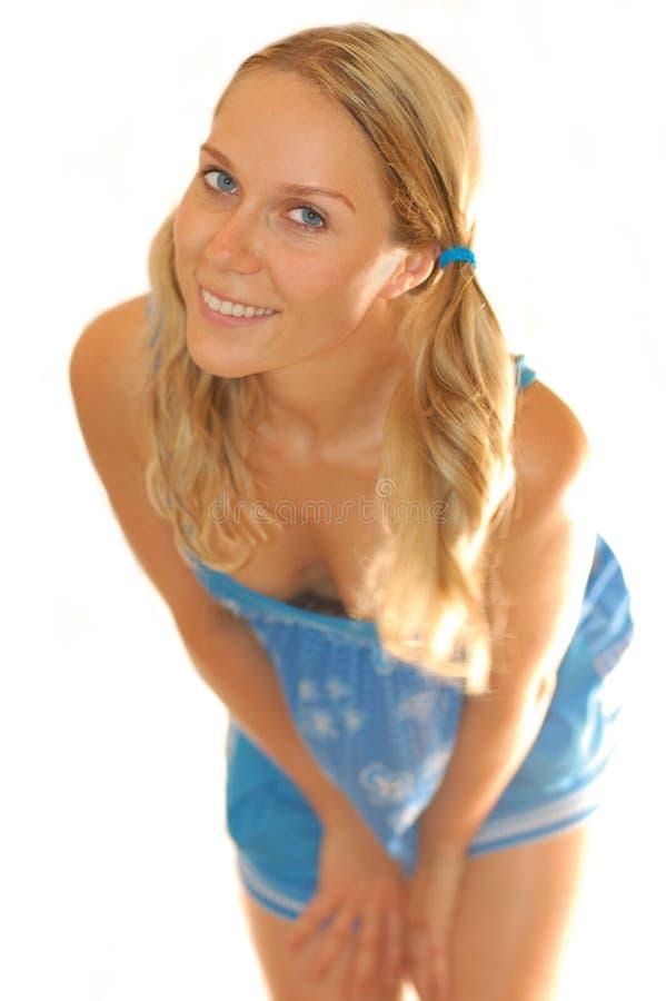 Flirt della ragazza fotografie stock libere da diritti