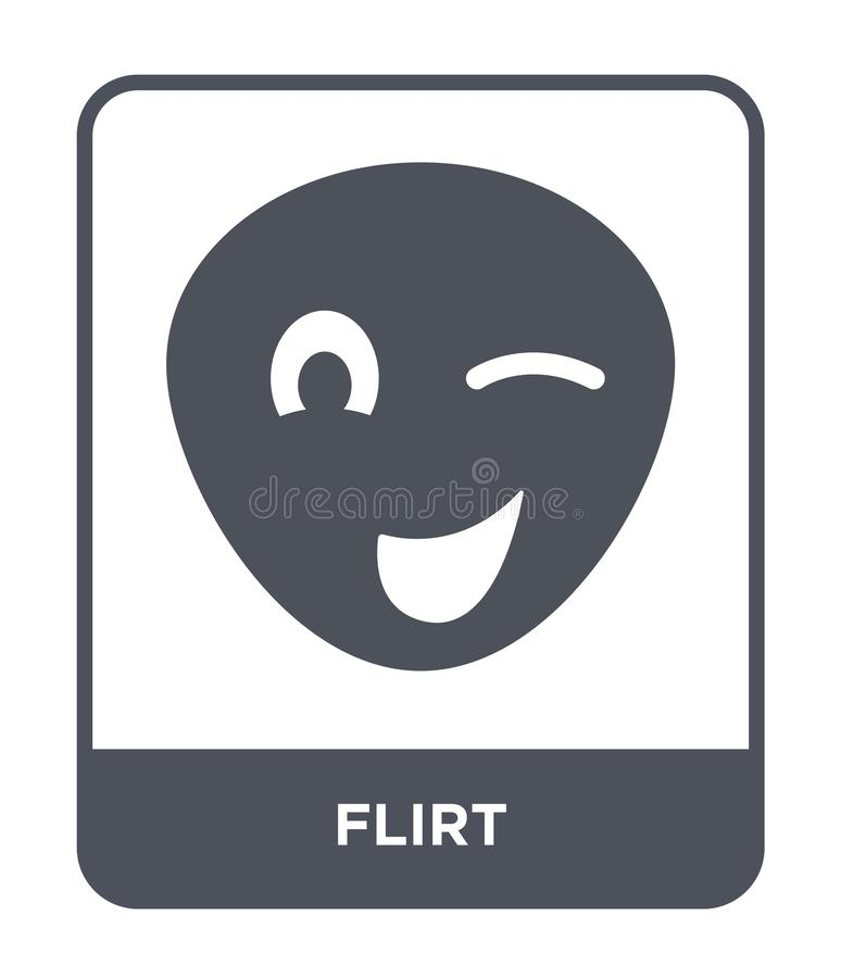 flirt ikona w modnym projekta stylu flirt ikona odizolowywająca na białym tle flirtuje wektorowego ikona prostego i nowożytnego p royalty ilustracja