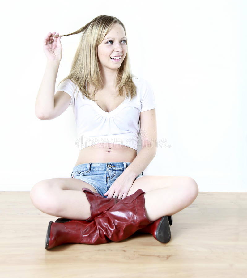 Flirt teenager fotografia stock libera da diritti