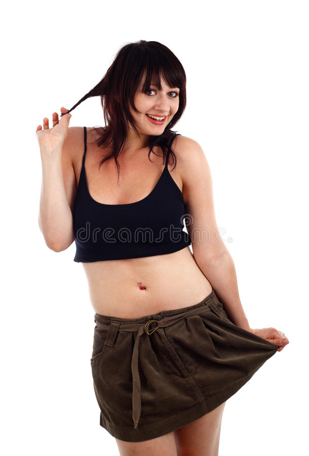 Flirtatious. Young woman with a flirtatious expression stock photography