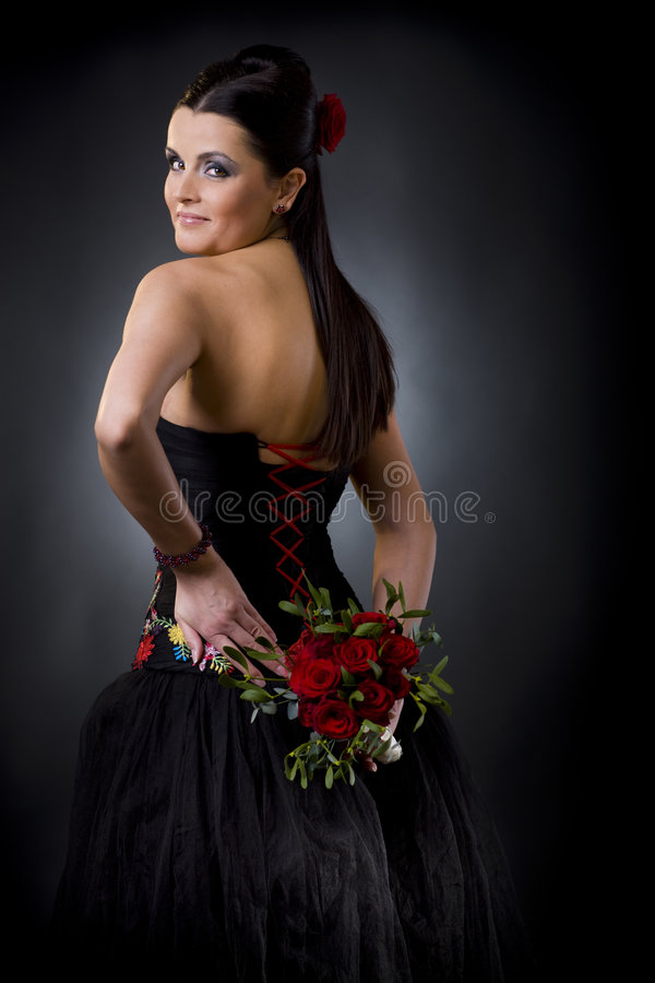 Flirtatious Glance Stock Images