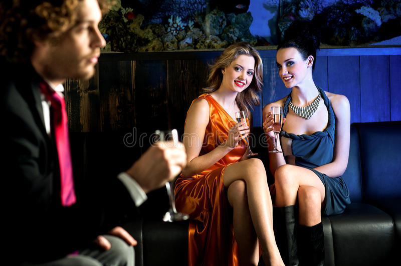 Download Flirtatious Young Girls Staring At Handsome Guy Royalty Free Stock Images - Image: 33496979