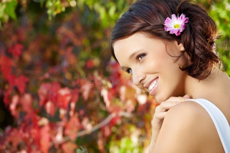 Flirtenfrau stockbild