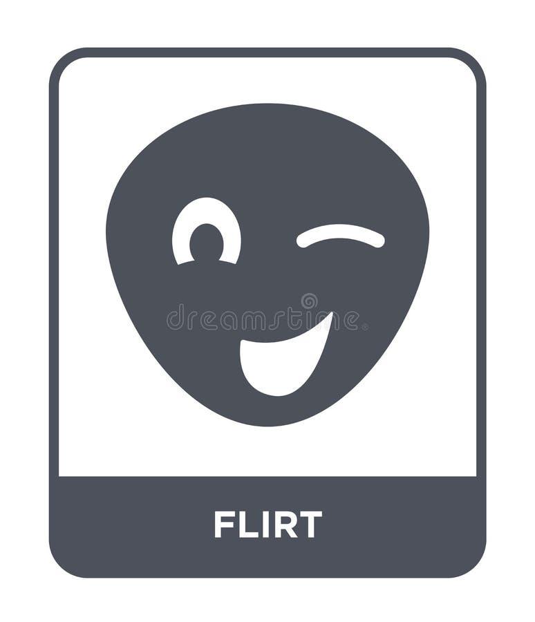flirtez l'icône dans le style à la mode de conception icône de flirt d'isolement sur le fond blanc symbole plat simple et moderne illustration libre de droits