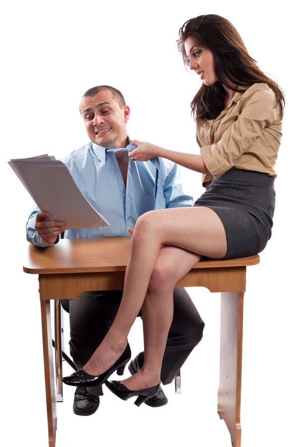 flirting офис стоковое изображение rf